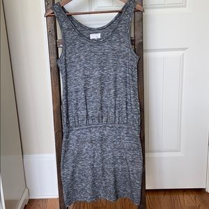 Lou & Grey Curve-Hugging Merled Gray Dress, S, Exc